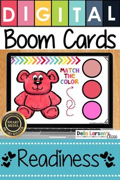 Fun idea to get ready for kindergarten. Make the adjustment to kindergarten easier with Boom Cards. Fun ideas for Preschool and kindergarten readiness. Help get your student ready for kindergarten and back to school with a fun game on an iPad or a Chromebook. Be ready for the kindergarten curriculum this fall. #readyforkindergarten #kindergarten #backtoschool #readiness Learning Colors, Fun Learning, Learning Activities, Teaching Ideas, Kindergarten Curriculum, Kindergarten Classroom, Classroom Ideas, Teaching The Alphabet, Teaching Vocabulary