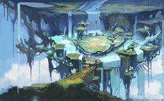 Final Fantasy XIV: Heavensward - Floating Lands Environment