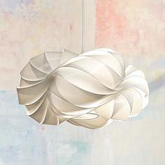 """Possini Euro Design White Cloud 15"""" Wide Pendant Chandelier"""