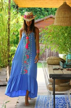 If you do in fact also extended being a bohemian spirit, ensure you know all the principles and magnificence information on how to choose the boho-chic design and style development! Boho Outfits, Summer Outfits, Fashion Outfits, Summer Dresses, Womens Fashion, Fashion 2018, Fashion Online, Fashion Ideas, Vetement Hippie Chic