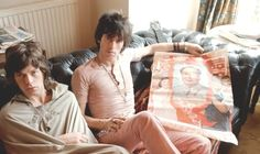 Mick Jagger and Keith Richards of The Rolling Stones in London, July 7th, 1967.
