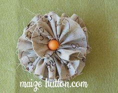 Frayed Flower tutorial - this would be cute on a headband or hairclip too :-)