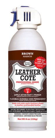 Brown Leather Dye Cote - leather furniture spray paint