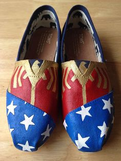 Wonder Woman Toms on Etsy, $100.00