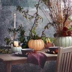 Outdoor Planters, Garden Planters, Outdoor Gardens, Fall Planters, Pumpkin Planter, Pumpkin Vase, Pumpkin Decorating, Porch Decorating, Seasonal Decor