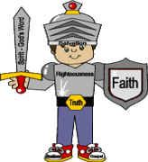 Armor of God paper craft--working on something like this for the boys