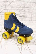 Rookie Roller Skates. Whip it with these kitsch 70s style roller skates. Featuring a nubuck upper with contrasting details and double chevrons to the side; you can skate in style.  £58.00