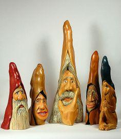 carved cypress knees | Cypress Knee woodspirits and santa | Flickr - Photo Sharing!