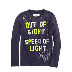 J.Crew - Boys' long-sleeve glow-in-the-dark out of sight tee