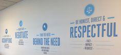 Company core values wall art inspiration