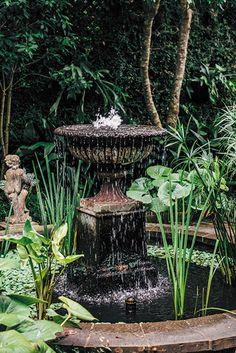 Photo Credit: Rush Jagoe. <b>The Social Garden</b><br>A fountain bubbles behind the walls of this Crescent City secret garden.
