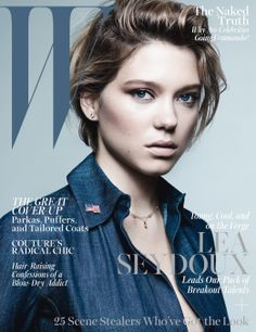 A Year in W - Lea Seydoux on the October 2013 cover of W magazine.