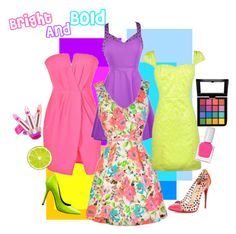 """""""Bright and Bold"""" by lilyboutique ❤ liked on Polyvore featuring Nine West, Christian Louboutin, tenoverten, NYX, Summer, floralprint, bold, bright and LilyBoutique"""
