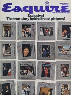 Esquire Magazine, - The story of Ron Galella, the bane of Jackie's existence. Aristotle Onassis, Carolyn Bessette Kennedy, John Junior, Jfk Jr, John Fitzgerald, Question Everything, Vogue Covers, Esquire, True Stories