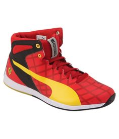 Puma Red Sneaker Shoes - http://weddingcollections.co.in/product/puma-red-sneaker-shoes/