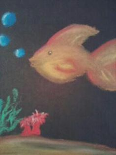 Little fish in soft pastel