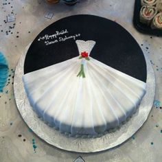 I am not into bridal things, but I think this is a cute idea for a cake!