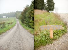 long dirt road to the charlotte, vermont reception John Anderson photog shots