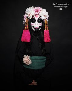 Quelques réalisations de nos étudiants sur le thème Kabuki lors de leur examen Théâtre du 2ème trimestre. #Kabuki #MUA #MUASchool