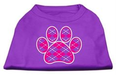 Mirage Pet Products Argyle Paw Pink Screen Print Shirt Purple XXXL (20) >>> Read more at the image link. (This is an affiliate link and I receive a commission for the sales) #PetCats