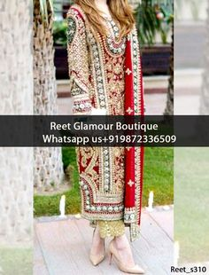 Marvelous Red And Golden Embroidered Punjabi Suit Product Code : Reet_s310 To Order, Call/Whats app On +919872336509 We Offer Huge Variety Of Punjabi Suits, Anarkali Suits, Lehenga Choli, Bridal Suits,Sari, Gowns Etc .We Can Also Design Any Suit Of Your Own Design And Any Color Combination.