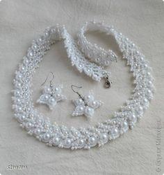 Украшение Свадьба Фриволите Комплект украшений для невесты Бисер Бусины Нитки