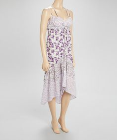 Bummed they don't have it my size. Would've been perfect for summer. Purple & White Floral Dress #zulilyfinds