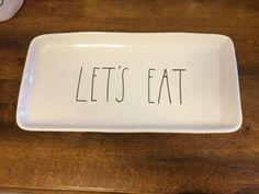 NEW Rae Dunn Clay Magenta LET'S EAT Platter