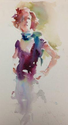 Frau Aquarell verschwommen, aber tolle Farbigkeit Janet Rogers | WATER COLOUR | Pinterest | Watercolor, Portraits and Watercolor portraits