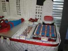 Spiderman Theme Kids Birthday Party 1264