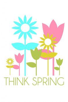 Think Spring. Free print on { lilluna.com }