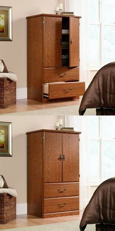 Armoires And Wardrobes 103430: Armoire Wardrobe Clothes Closet Storage  Cabinet Wood Organizer Drawer Bedroom  U003e BUY IT NOW ONLY: $239.99 On EBay!