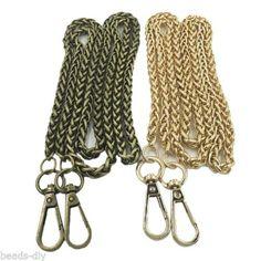 1PC BD 1.2M Metal Purse Chain DIY Accessories Bags Handbag Bronze Twist chain