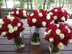 red wedding flowers | Red Wedding Bouquets | Flickr - Photo Sharing! Not sure if I want white in there or not
