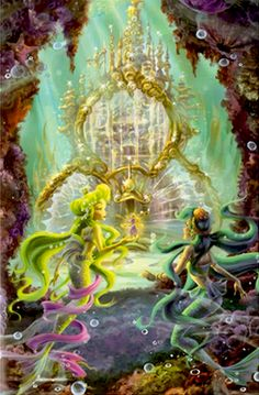 The Mermaid Castle is where the mermaids live, it's also located in the Mermaid Lagoon. Hades Disney, Disney Art, Mermaid Pictures, Fairy Pictures, Mermaid Lagoon, Mermaid Art, Princesas Disney Dark, Pixie Hollow, Disney Face Characters
