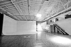 This is a premier creative studio space designed for photography, film productions, and hosting amazing events. The newly renovated space is extremely versatile with an open floor plan that can be set up according to your needs. Featuring open industrial warehouse, exposed ceiling, white brick walls, optional skylights, and concrete floors – it's a blank canvas ready for your creation.The studio utilizes the on-site equipment from its personal inventory along with renting from third part