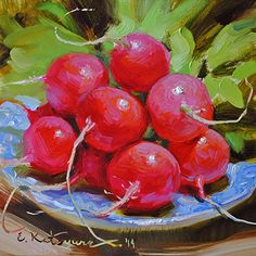 June Harvest by Elena Katsyura Oil ~ 6 x 6