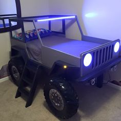 Decorate your room in a new style with murphy bed plans Jeep Bed, Murphy Bed Plans, Kids Room Design, Truck Bed, Decorate Your Room, Cool Beds, Kid Beds, Kids Furniture, Boys Bedroom Furniture
