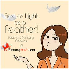 "Get the comfort feeling on those ""crazy days"". Feel free with the Feathers Sanitary Napkins. Shop online #fantasymedonline #fantasymed #featherssanitarypads #girlthing #sanitarynapkins #onlineshopping #shoponline #discreetpacking"