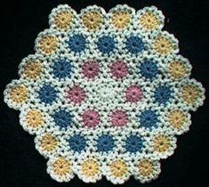 Yo-yo hexagon baby afghan