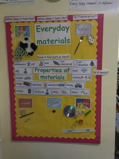 display everyday materials science More Science Area, Primary Science, Kindergarten Science, Science Classroom, Teaching Science, Science And Nature, Class Displays, Classroom Displays, Bugatti Veyron