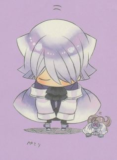 Pandora Hearts chibi Xerxes Break bowing~ so cute~!