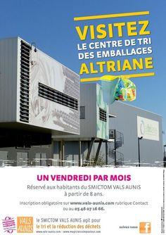 Visites du centre de tri des emballages Altriane. Publié le 24/01/14. surgeres. Charente-Maritime.