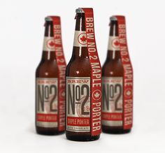 Brew No.2 beer packaging: www.craigvalentinodesign.com