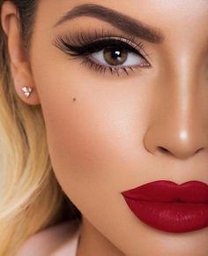 55 + Trendy Make-up Braut rote Lippen - Wedding Makeup Videos Makeup Trends, Makeup Inspo, Makeup Inspiration, Makeup Tips, Beauty Makeup, Makeup Ideas, Glam Makeup Look, Makeup Hacks, Makeup Designs