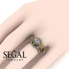 Bridal Set White Diamond rings by Segal Jewelry Unique Diamond Engagement Rings, Classic Engagement Rings, Designer Engagement Rings, Diamond Rings, Diamond Jewelry, Black Diamond, Silver Jewelry, Wedding Rings Simple, Bridesmaid Jewelry Sets