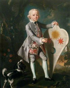 Master Stenninge (with faithful hound and fab kite!) by Mason Chamberlin the elder (circle of) c. 1750