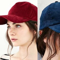 Urban Outfitters corduroy baseball caps bundle Urban outfitters BDG corduroy baseball caps in maroon in navy. Never worn. Urban Outfitters Accessories
