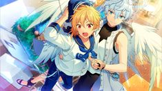 Angel and Rabbit Akatsuki, Star Comics, Star Wars, Fanart, Boy Poses, Cute Anime Pics, Ensemble Stars, Manga Boy, Cute Drawings
