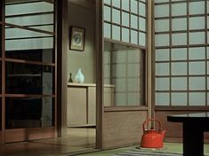 Ozu teapot — Yasujirō Ozu, 'Equinox Flower', 1958#lascruxesfilms #yasujirōozu #lascruxesinteriors Japanese Interior, Japanese Homes, Old Movies, Nice Movies, Cinema Film, Color, Yasujiro Ozu, Interior Architecture, Interior Design